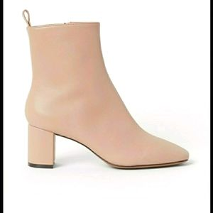 NWT faux leather nude pink ankle boots